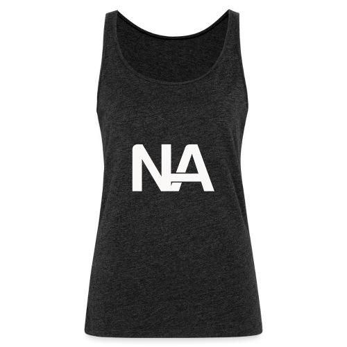 NA Logo white - Women's Premium Tank Top