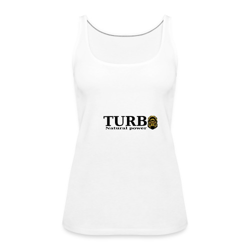 TURBO natural power - Naisten premium hihaton toppi