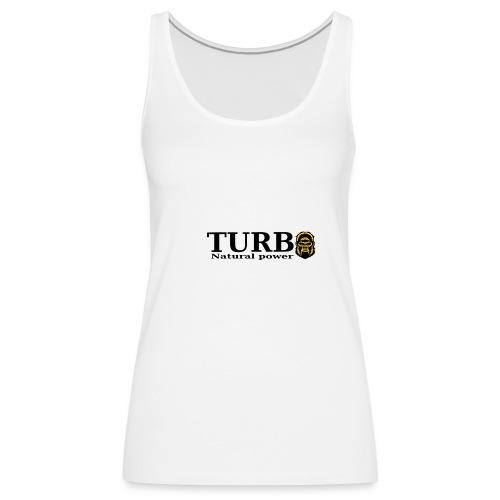 TURBO natural power - Naisten premium hihaton toppi