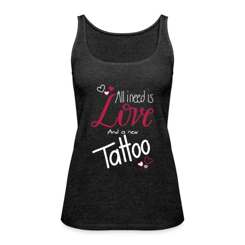 all i need is... (weiss) - Frauen Premium Tank Top