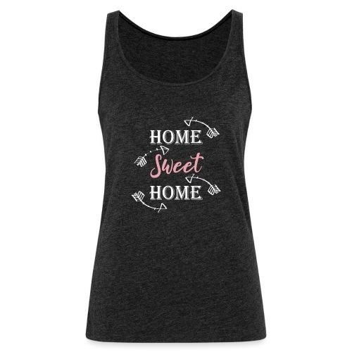 Hygge Hogar dulce hogar fondo oscuro - Camiseta de tirantes premium mujer