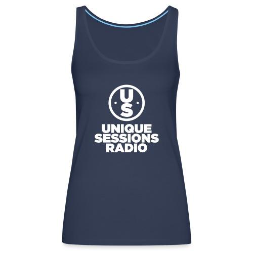 Unique Sessions Radio Monochrome White - Women's Premium Tank Top