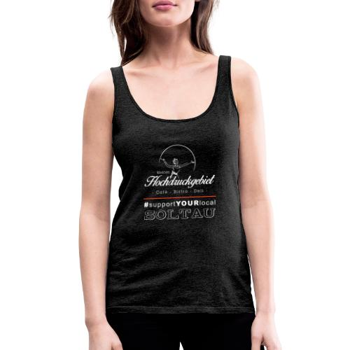 Logo support your local weiss - Frauen Premium Tank Top