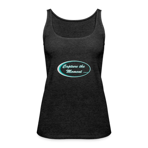 Logo capture the moment photography slogan - Women's Premium Tank Top