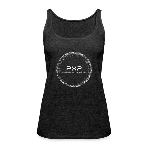 white logo transparent 2x - Women's Premium Tank Top