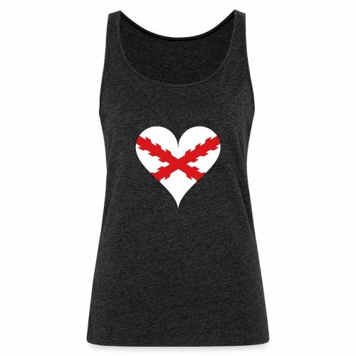 Corazón Borgoña - Camiseta de tirantes premium mujer