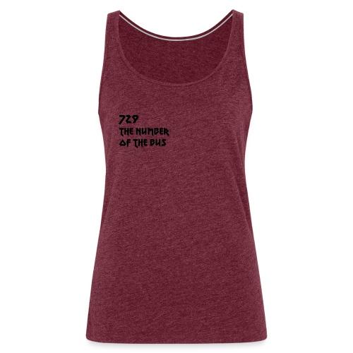 729 nero - Canotta premium da donna