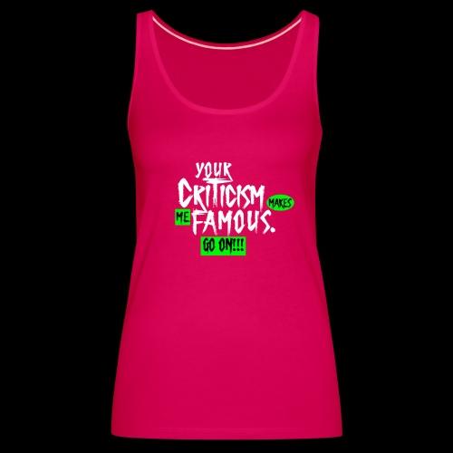 CRITICA 2 - Camiseta de tirantes premium mujer