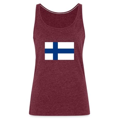 800pxflag of finlandsvg - Naisten premium hihaton toppi