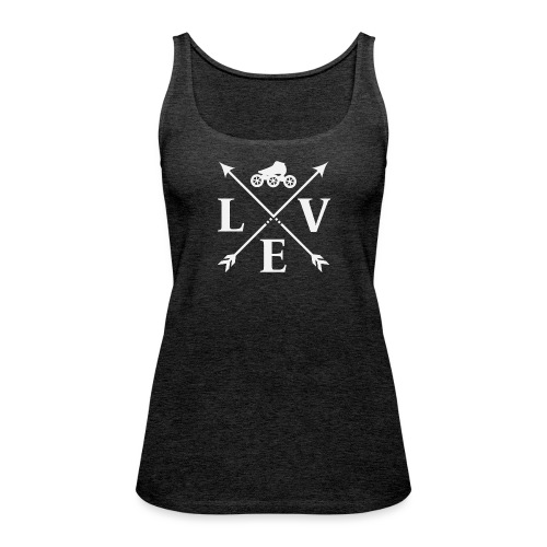 Speedskating Love Weiss - Frauen Premium Tank Top