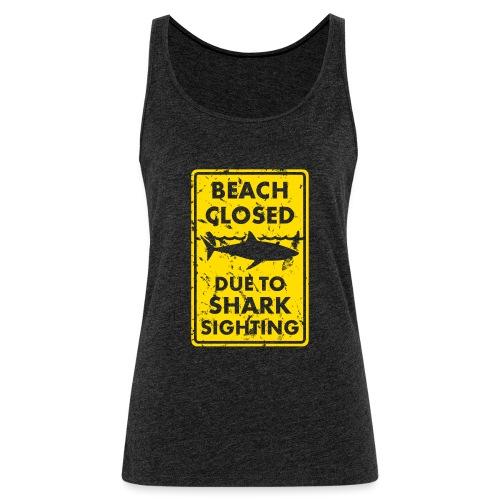 Surf T-Shirt Beach closed - Frauen Premium Tank Top