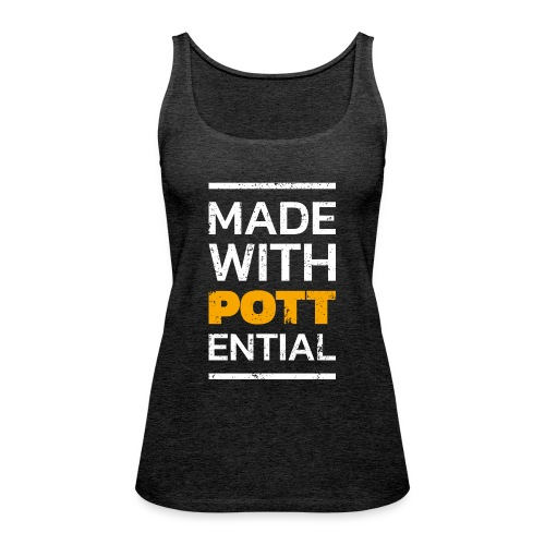 Made-with-Pottential Hochformat - Frauen Premium Tank Top