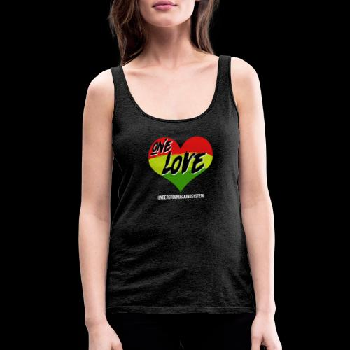ONE LOVE - HEART - Frauen Premium Tank Top