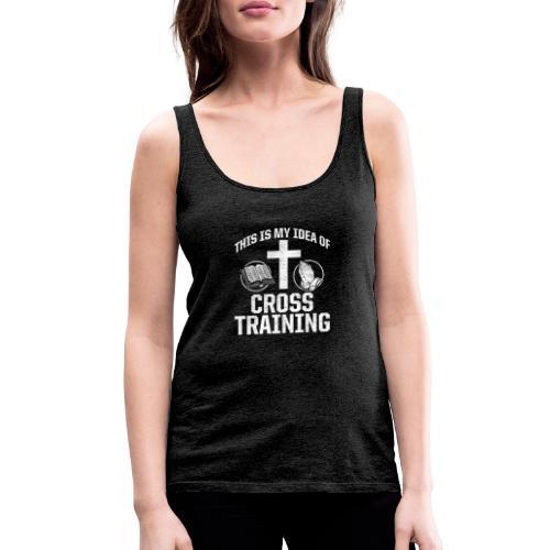 Sport mit Jesus und Bibel lesen Christen Spruch - Frauen Premium Tank Top
