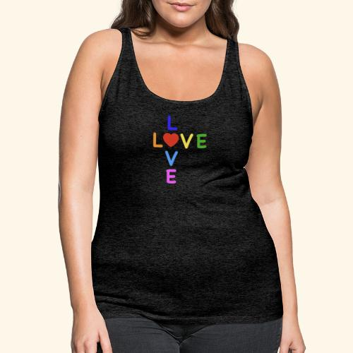 Rainbow Love. Regenbogen Liebe - Frauen Premium Tank Top