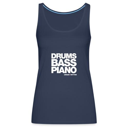 Drums Bass Piano - Women's Premium Tank Top
