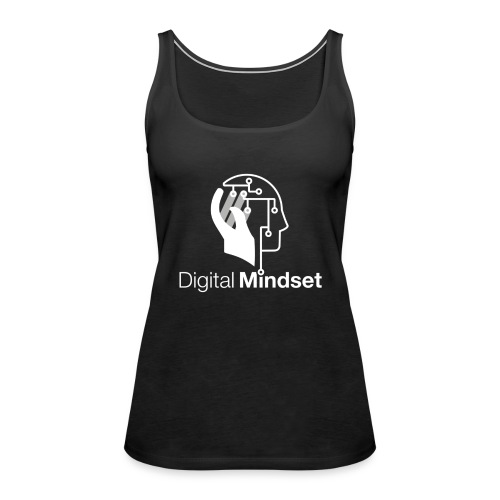 Digital Mindset Logo Weiß - Frauen Premium Tank Top