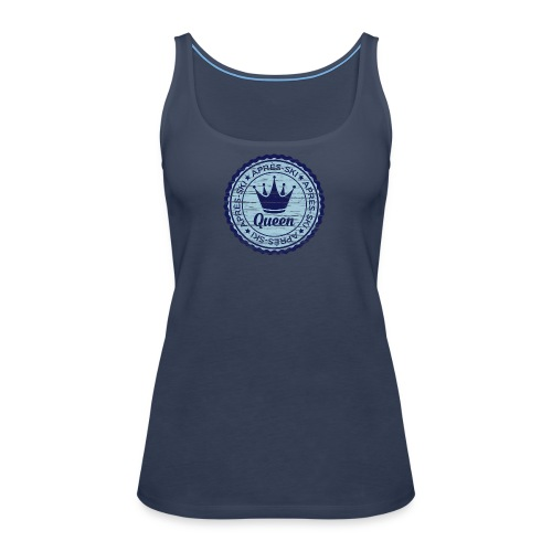 Apresski Queen Grunged Badge Shirt - Frauen Premium Tank Top