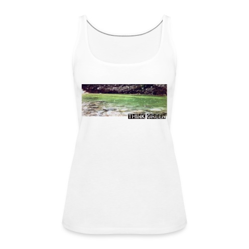 Think green - Frauen Premium Tank Top