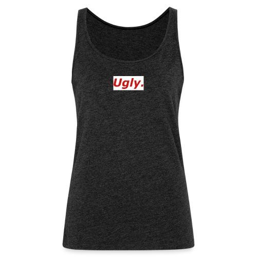 Unironically Ugly Box Logo Design - Women's Premium Tank Top