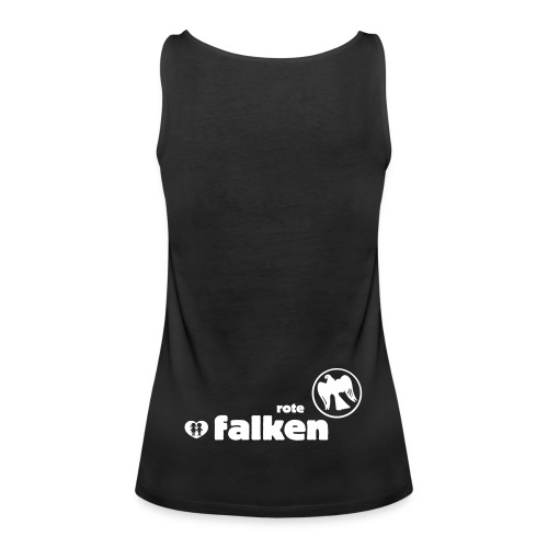 RF Logo Schriftzug schwarz - Frauen Premium Tank Top