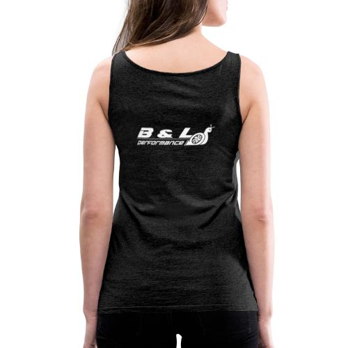 B&L Performance wit - Vrouwen Premium tank top