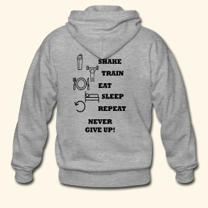 Shake Train Eat Sleep Repeat - Chaqueta con capucha premium hombre