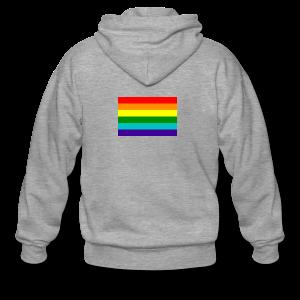 Gay pride rainbow vlag - Mannenjack Premium met capuchon