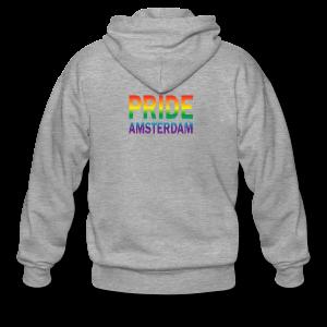 Pride Amsterdam in regenboog kleur - Mannenjack Premium met capuchon