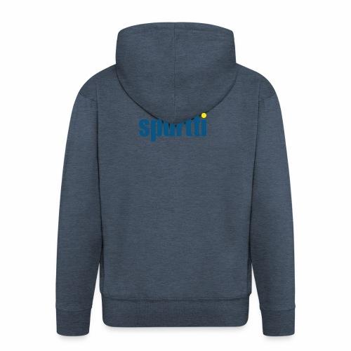 Spurtti Logo - Miesten premium vetoketjullinen huppari