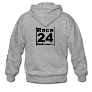 Race24 logo in black - Men's Premium Hooded Jacket