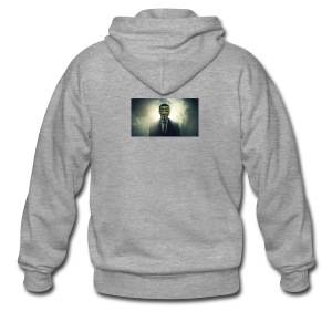 anonymous-isis-bitcoin-opisis-jpg - Rozpinana bluza męska z kapturem Premium