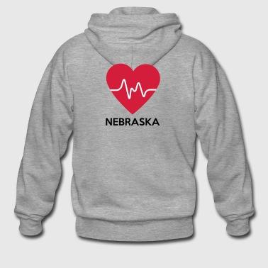 serce Nebraska - Rozpinana bluza męska z kapturem Premium