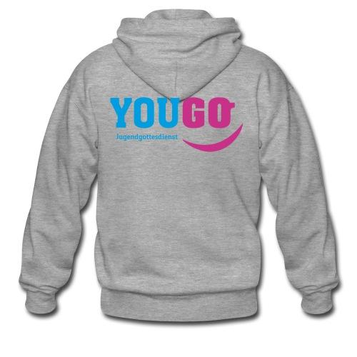 YouGo Blau-Magenta - Männer Premium Kapuzenjacke