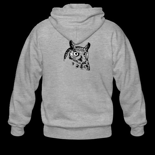 Artist Owl - Men's Premium Hooded Jacket