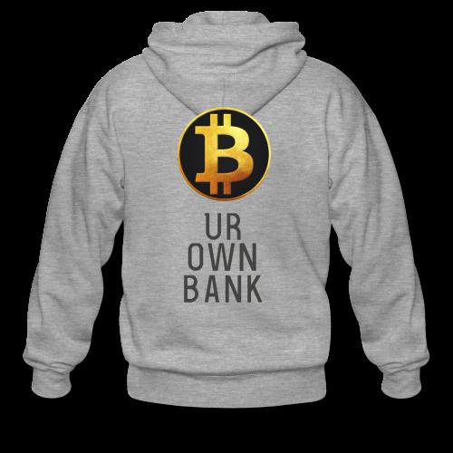 Bitcoin - B UR OWN BANK - T-Shirt by Blockawear - Männer Premium Kapuzenjacke