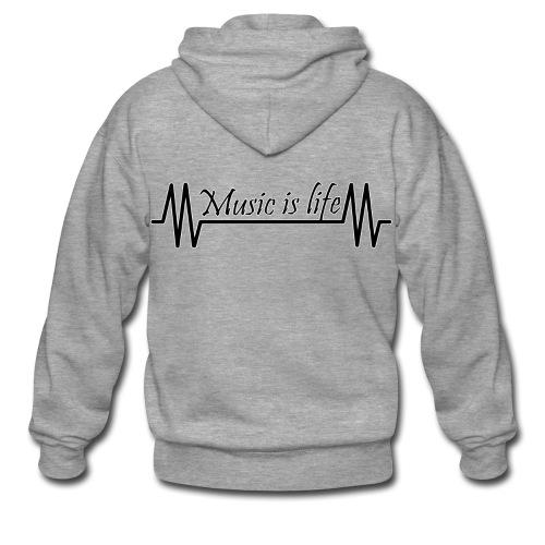 Music is life - Mannenjack Premium met capuchon