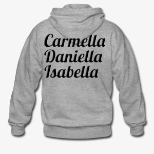 Carmella, Daniella, Isabella - Men's Premium Hooded Jacket