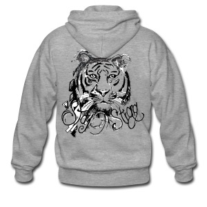 David Pucher Art Tiger - Männer Premium Kapuzenjacke