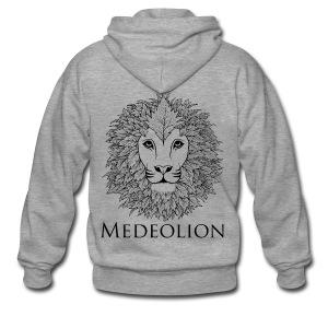 Medeo Black Logo - Mannenjack Premium met capuchon
