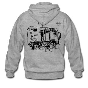 Sketch Expedition Truck Terratrotter® - Men's Premium Hooded Jacket