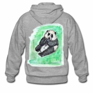 Scruffy panda - Men's Premium Hooded Jacket