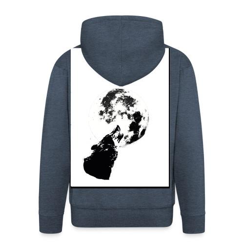 lobo1 - Chaqueta con capucha premium hombre