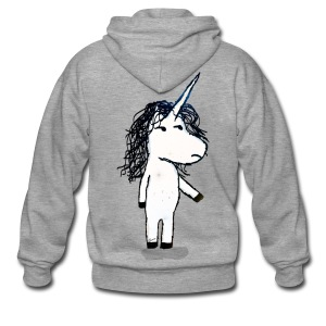 Angry unicorn - Men's Premium Hooded Jacket