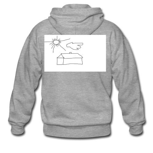 wies2503aw-png - Rozpinana bluza męska z kapturem Premium