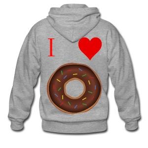 I ♥ donuts | T-shirt | Tiener/Man - Mannenjack Premium met capuchon