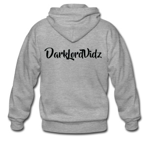 DarklordVidz Black Logo - Men's Premium Hooded Jacket