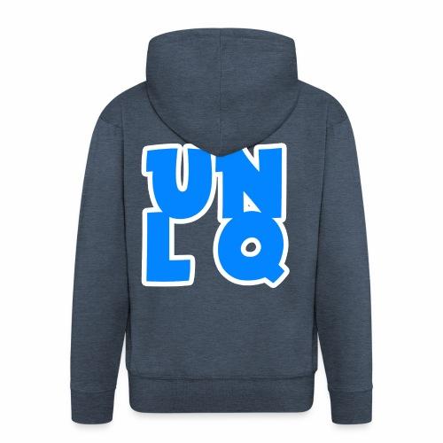 Jacke mit Unlq-Logo - Männer Premium Kapuzenjacke