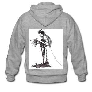 EdwardScissorhands.jpg - Men's Premium Hooded Jacket