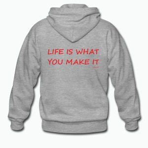 Life is what you make it - Men's Premium Hooded Jacket